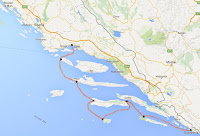 Ruta velero en croacia Dubrovnik Split