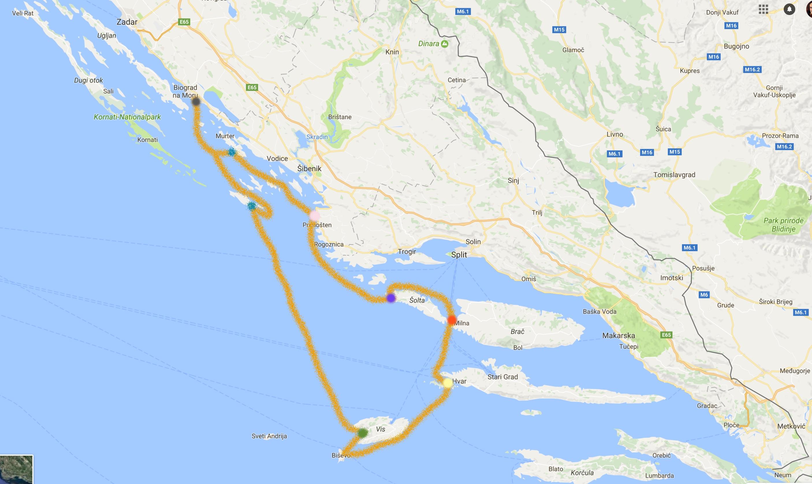 Ruta Split Dubrovnik