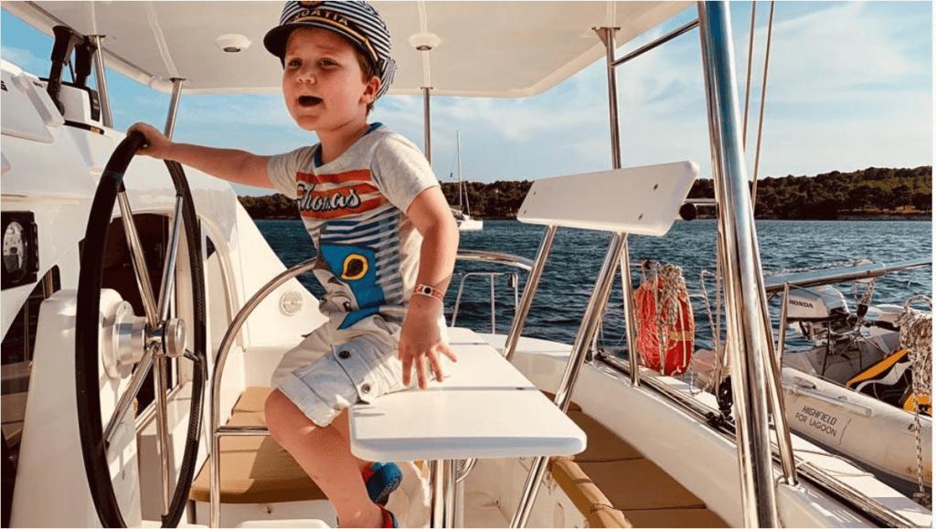 Capitan velero en Croacia