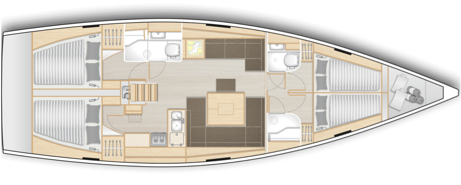 interior-velero-de 11-15-metros-velero-alquiler-croacia-4-camarotes