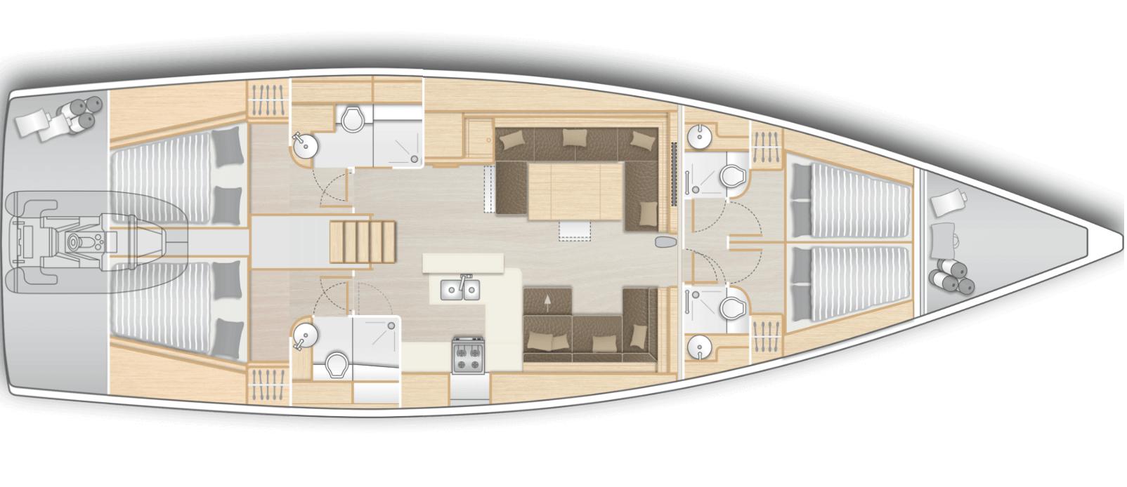 interior-velero-gama-superior-velero-alquiler-croacia-4-camarotes